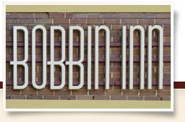 Bobbin Inn Café sign